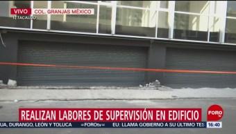 El edificio en la calle Avena, colonia Granjas México, que se hundió, estaba siendo remodelado y nivelado; autoridades revisan documentos y permisos