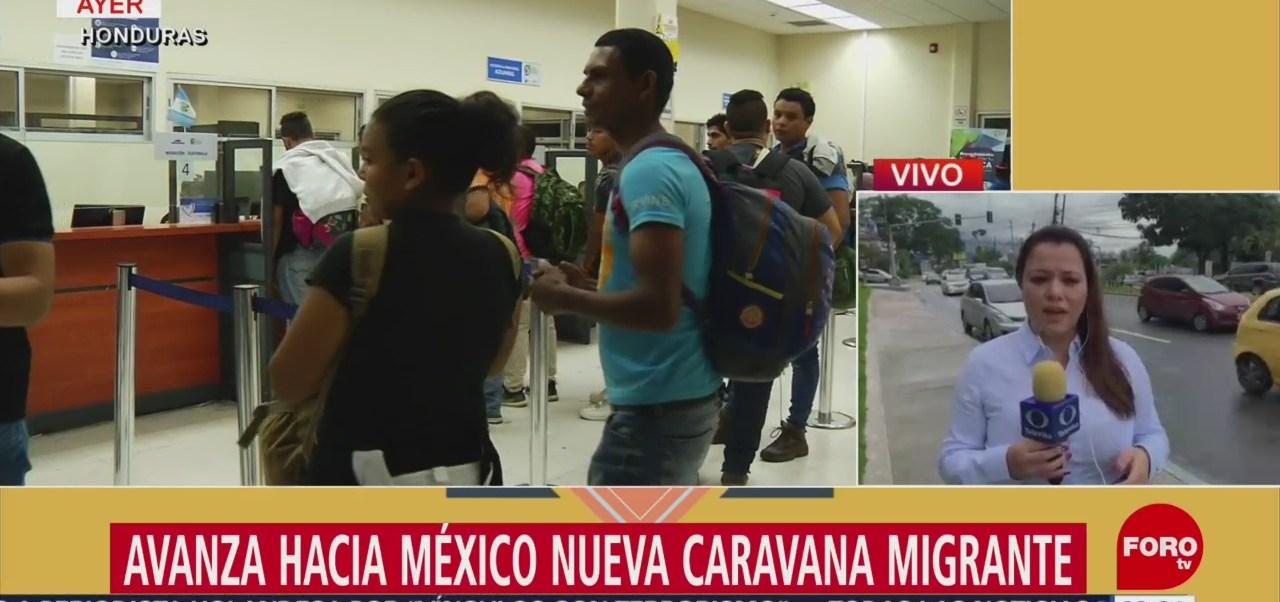 Nueva caravana migrante avanza hacia México