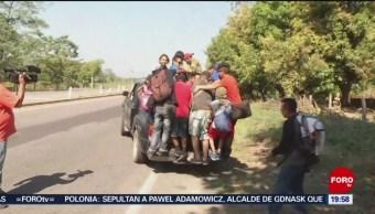 Nueva caravana migrante realiza segundo día de caminata en México