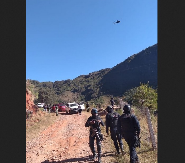 Foto: Operativo de seguridad en Chilapa, Guerrero, 28 de enero 2019. Twitter @RAlvarezHeredia