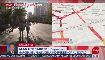 Organizaciones campesinas y obreras marchan sobre Paseo de la Reforma