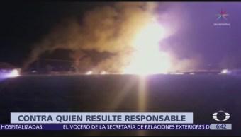 PAN presenta denuncia ante SFP por explosión en Tlahuelilpan