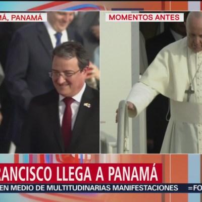 Papa Francisco llega a Panamá