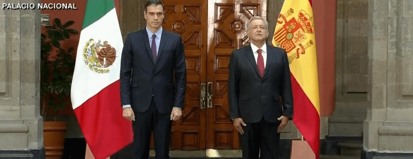 FOTO AMLO recibe a Pedro Sánchez en Palacio Nacional CDMX 30 enero 2019