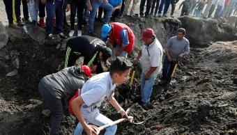 Hidalgo: Familiares de desaparecidos entran a zona explosión