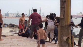 Pelea entre dos familias en playa de Veracruz deja heridos