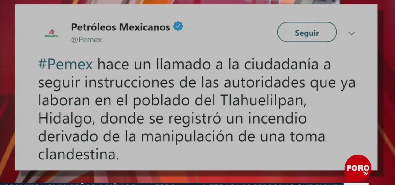 Pemex Atiende Explosión En Hidalgo Twitter
