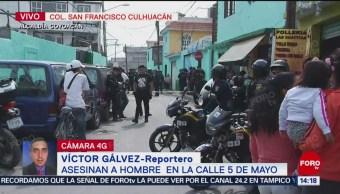 Persiguen y asesinan a balazos a hombre en Coyoacán