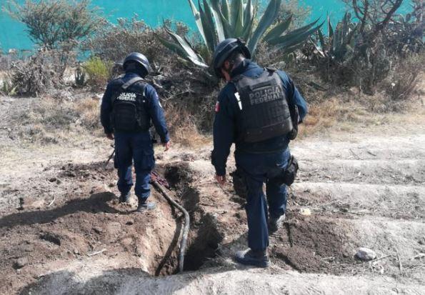 Foto: PF asegura 14 tomas clandestinas de alto riesgo en Tlahuelilpan, Hidalgo 25 enero 2019