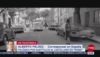 Polémica por subtítulos al castellano en película Roma