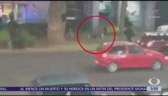 Policías detienen a ladrón en calles de Polanco, CDMX
