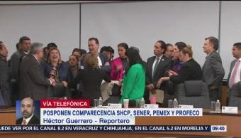 Posponen comparecencia SHCP, Sener, Pemex y Profeco