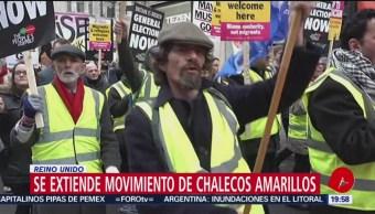 Protestas de 'chalecos amarillos' se extienden a Reino Unido