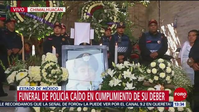 Foto: Realizan funeral a policía caído en cumplimiento de su deber