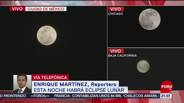 Realizan Largas Filas Para Apreciar Primer Eclipse Lunar Total En México, Eclipse Lunar Total