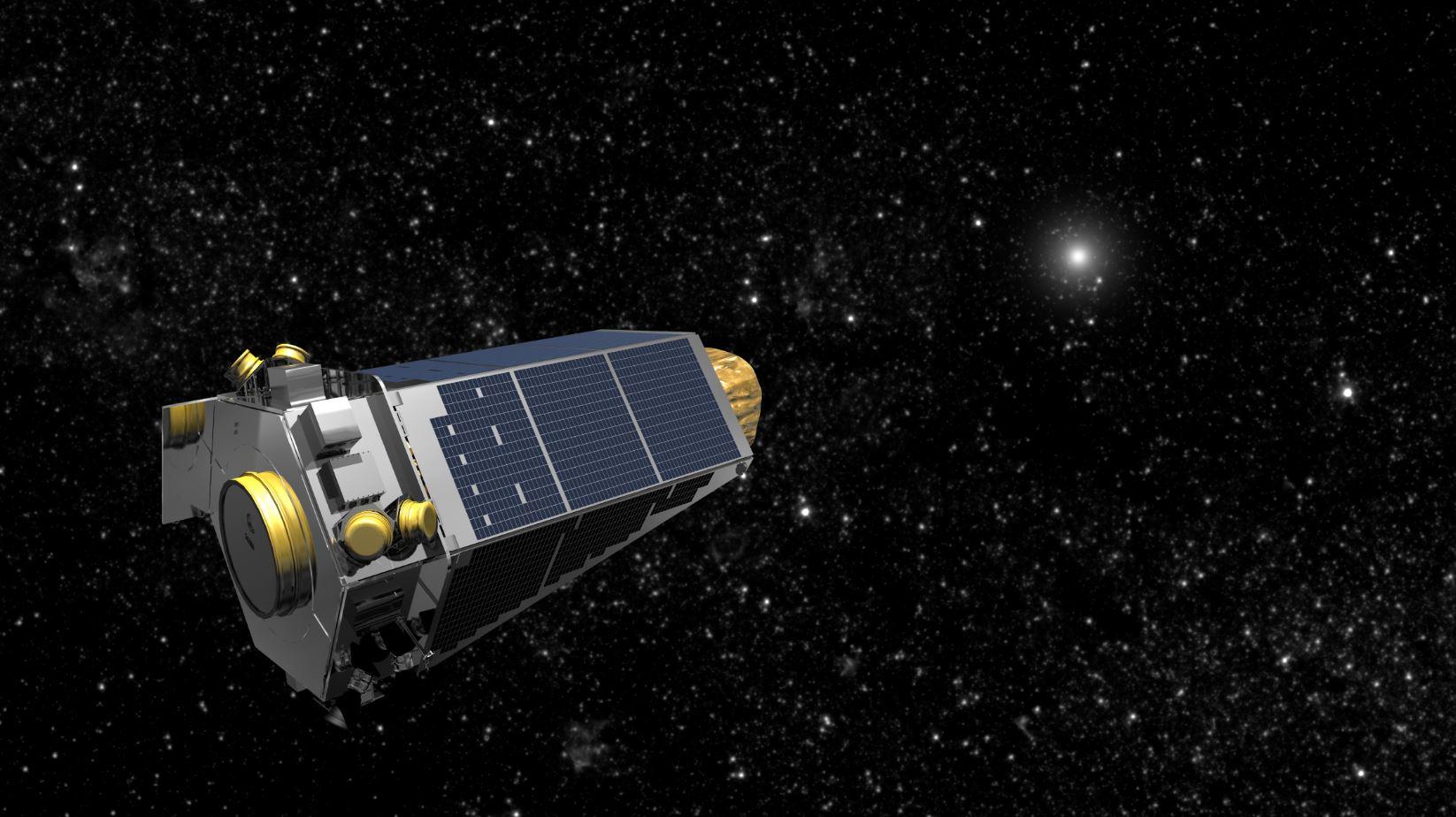 Render del telescopio Kepler realizado por la NASA previo a su incursión en la misión K2 (NASA)