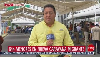 Reportan 644 menores en nueva caravana migrante en Chiapas