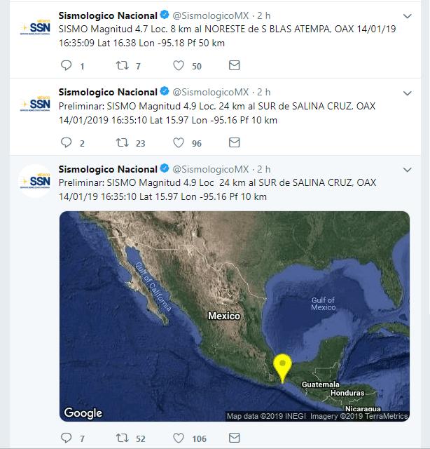 Sismo de 4.7 en Oaxaca; no se reportan daños materiales