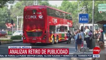 Foto: Retiro Publicidad Línea 7 Metrobús 25 de Enero 2019