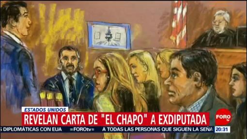 Revelan Carta De 'El Chapo' A Exdiputada