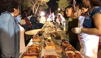 elaboran rosca de reyes gigante en merida yucatan