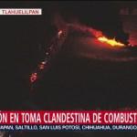 Crónica de explosión en toma clandestina en Tlahuelilpan, Hidalgo