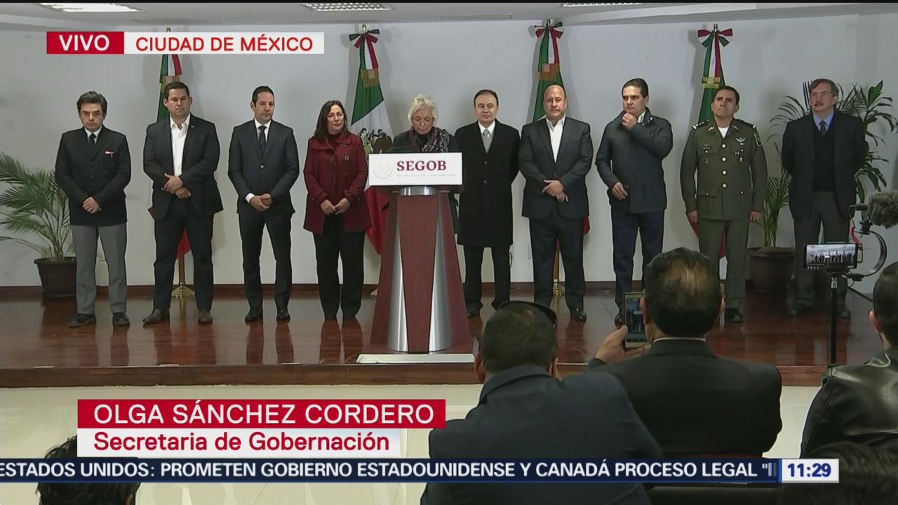 Sánchez Cordero se reunió con gobernadores por desabasto de gasolina