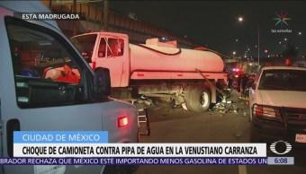 Se accidentan pipas en la Ciudad de México