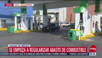 Se empieza a regular abasto de combustible en CDMX