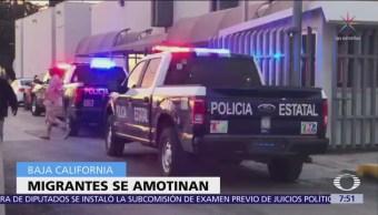 Se registra motín en celdas del INM en Mexicali