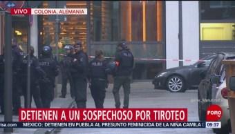 Se registra tiroteo en Colonia, Alemania; hay un detenido