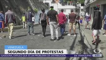 Se registran protestas contra Nicolás Maduro en Venezuela