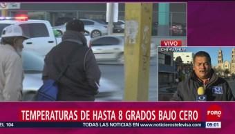 Foto, 26 enero 2019, Se registran temperaturas de 10 grados bajo cero en Chihuahua