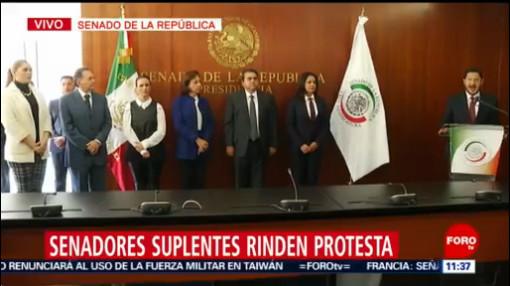 Senadores suplentes rinden protesta en sede de la Cámara Alta
