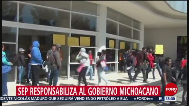 SEP responsabiliza a Aureoles por falta de pagos a maestros