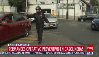 Sigue la vigilancia en inmediaciones de gasolineras de CDMX