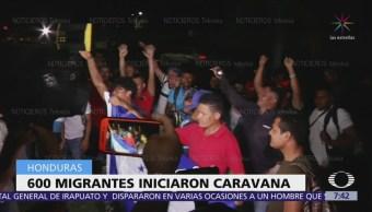 Sólo 600 migrantes hondureños salen rumbo a EU