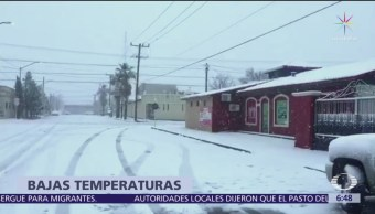 Sonora y Chihuahua registran nevadas, cierran tramos carreteros