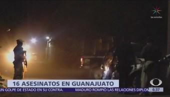 Suman 16 homicidios en Guanajuato desde el martes
