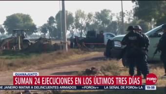 Suman 24 Ejecuciones En Guanajuato, 24 Ejecuciones, Guanajuato, Últimos Tres Días
