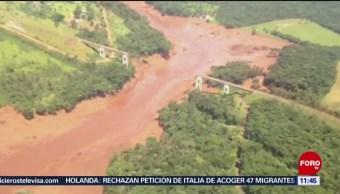 Suman 60 muertos y 202 desaparecidos por colapso de presa en Brasil