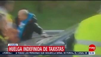 Taxista se lanza contra vehículos en Madrid