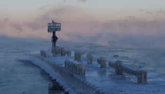 Foto: Lago Michigan congelado por ola de frío en Estados Unidos, 31 enero 2019, Michigan, Estados Unidos