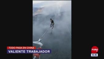 Todo Pasa En China: Valiente trabajador