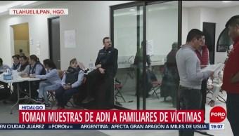 Toman Muestras ADN Familiares Víctimas Explosión Tlahuelilpan