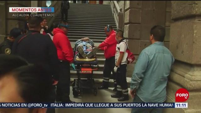 Trabajador cae de andamio en Palacio de Minería, en CDMX