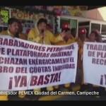 Foto: Trabajadores Pemex Víctimas Corrupción 31 de Enero 2019