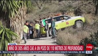 Trabajan para rescatar a niño que cayó a pozo en España