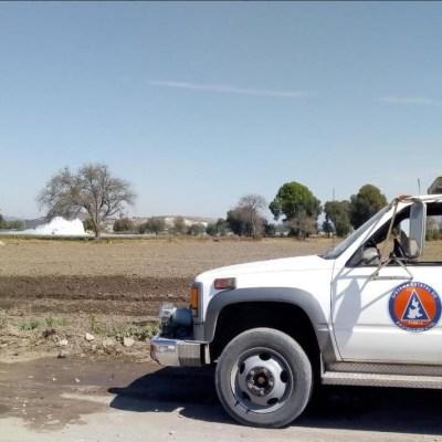 Continúan trabajos para controlar fuga de gas LP en Puebla