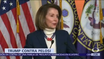 Trump cancela vuelo oficial a Nancy Pelosi